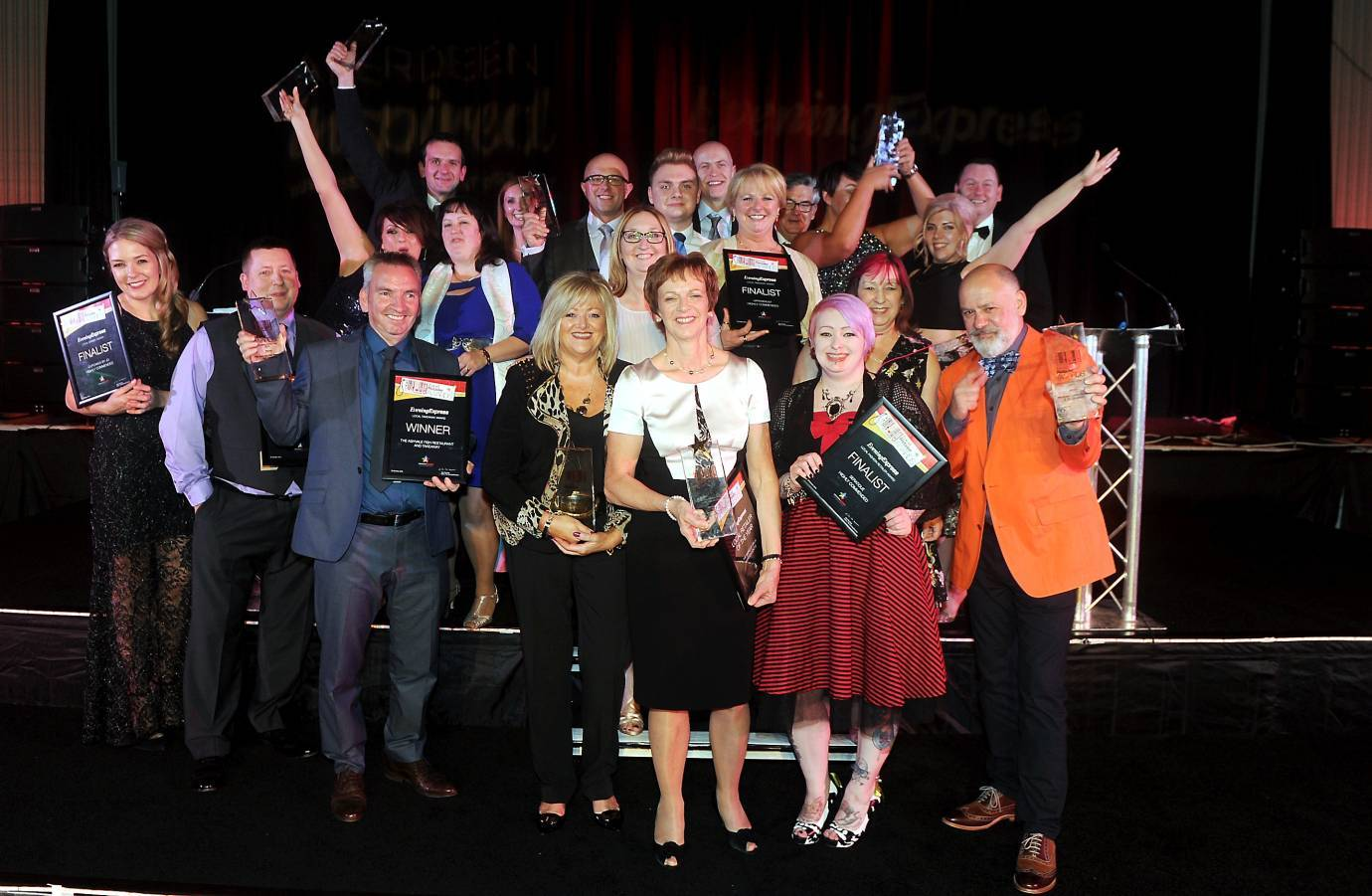 Last year's winners of the  Evening Express Retailer Awards