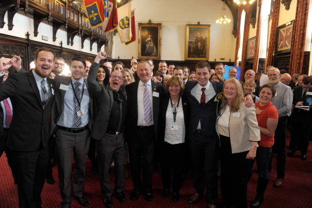 SNP's Alex Nicoll and Michael Hutchison  pictured with SNP colleagues.