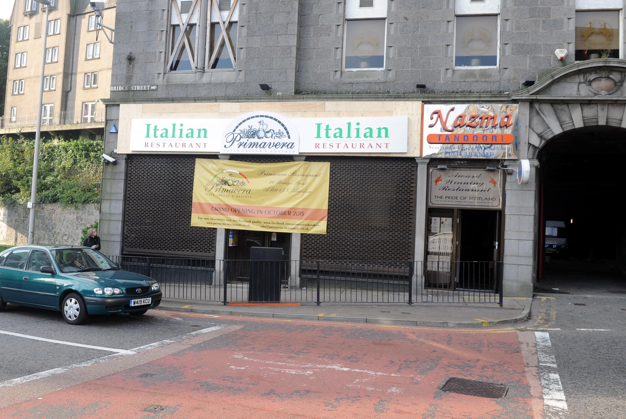 The site of the new restaurant on Bridge Street.