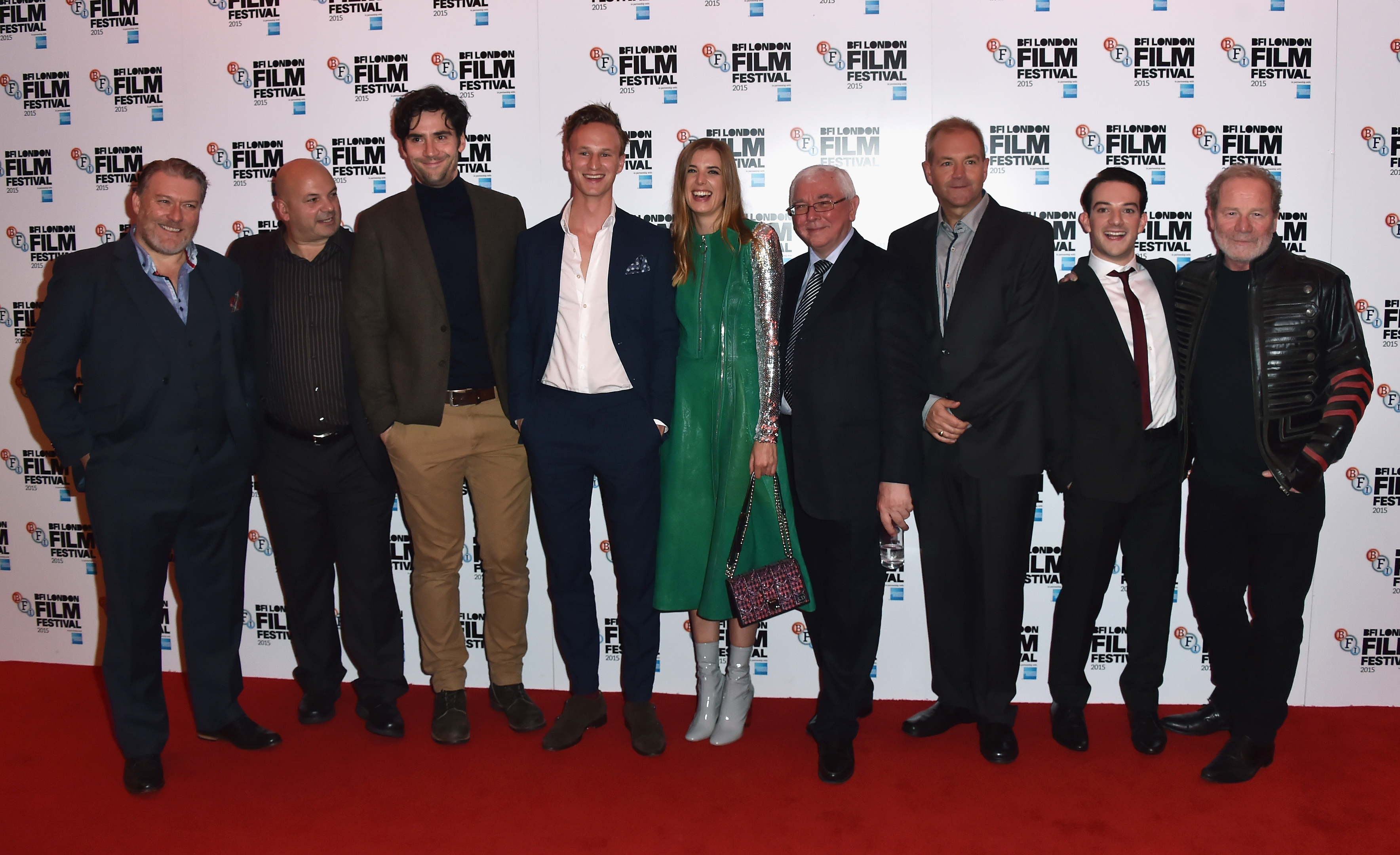 Ian Pirie, Sol Papadopoulos, Jack Greenlees, Agyness Deyn, Terence Davies, Roy Boulter, Kevin Guthrie and Peter Mullan attend the screening of Sunset Song