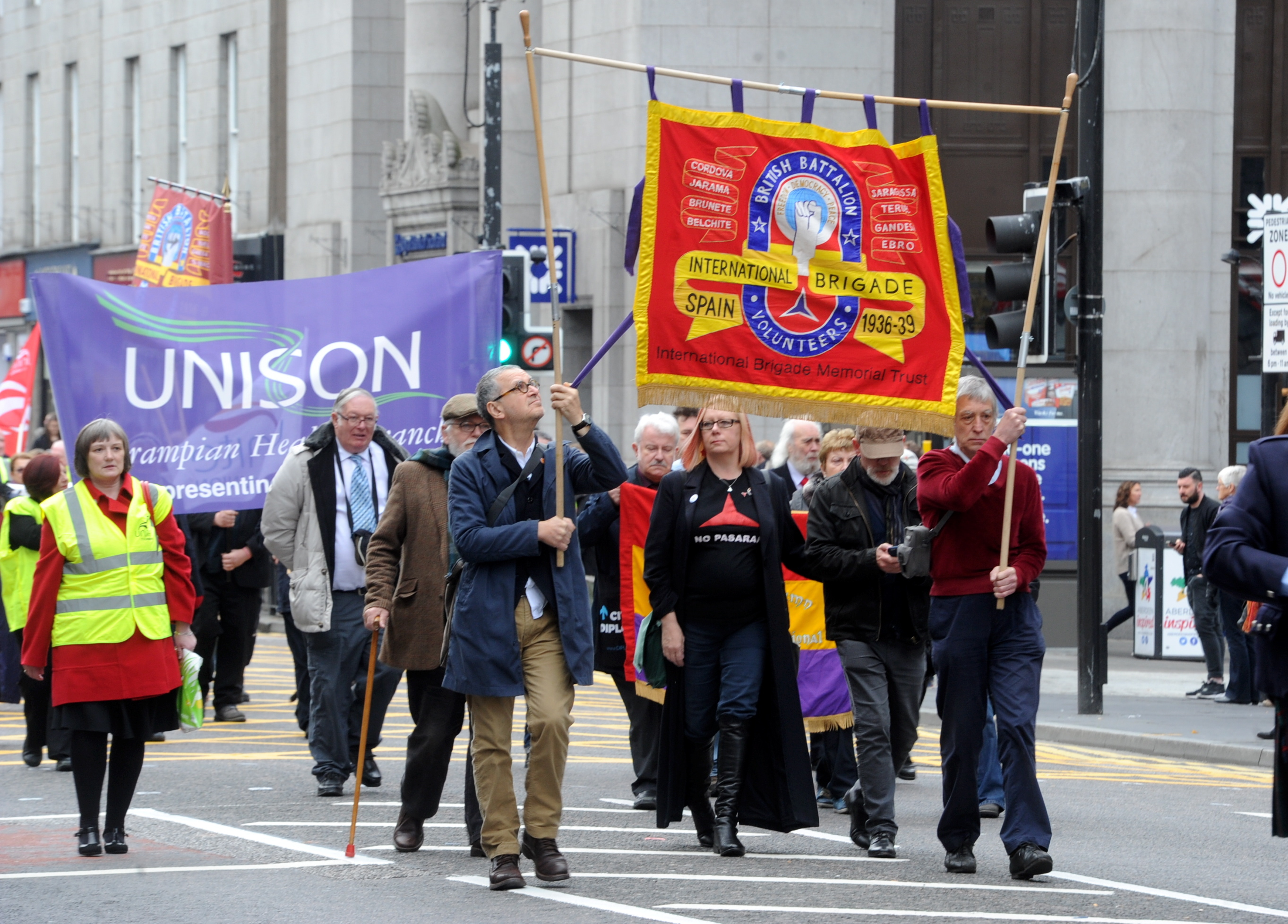 A march was held in 2015 on Aberdeen's Union Street to remember those who fought in  the Spanish Civil War of 1936-39
