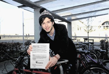 University of Aberdeen geography student Chris James, who led a study into people's attitudes to cycling.