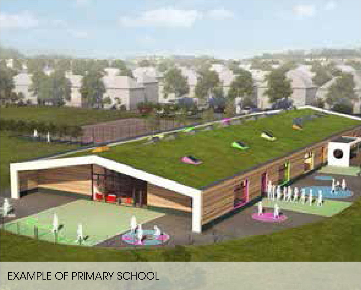 How the proposed  primary school at Mains of Cowie would look.