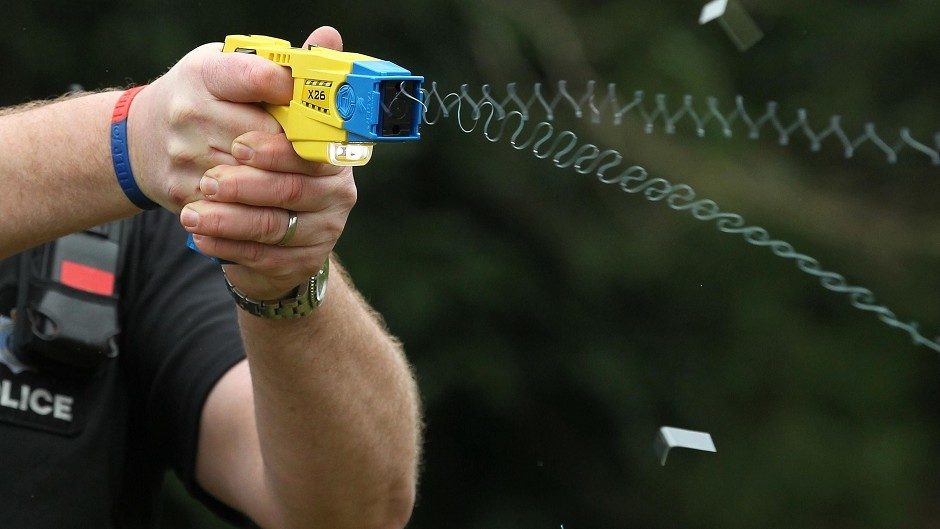 Police used a taser during the incident.