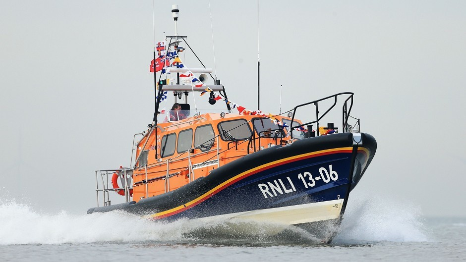 An RNLI lifeboat was launched after a fishing boat broke down.
