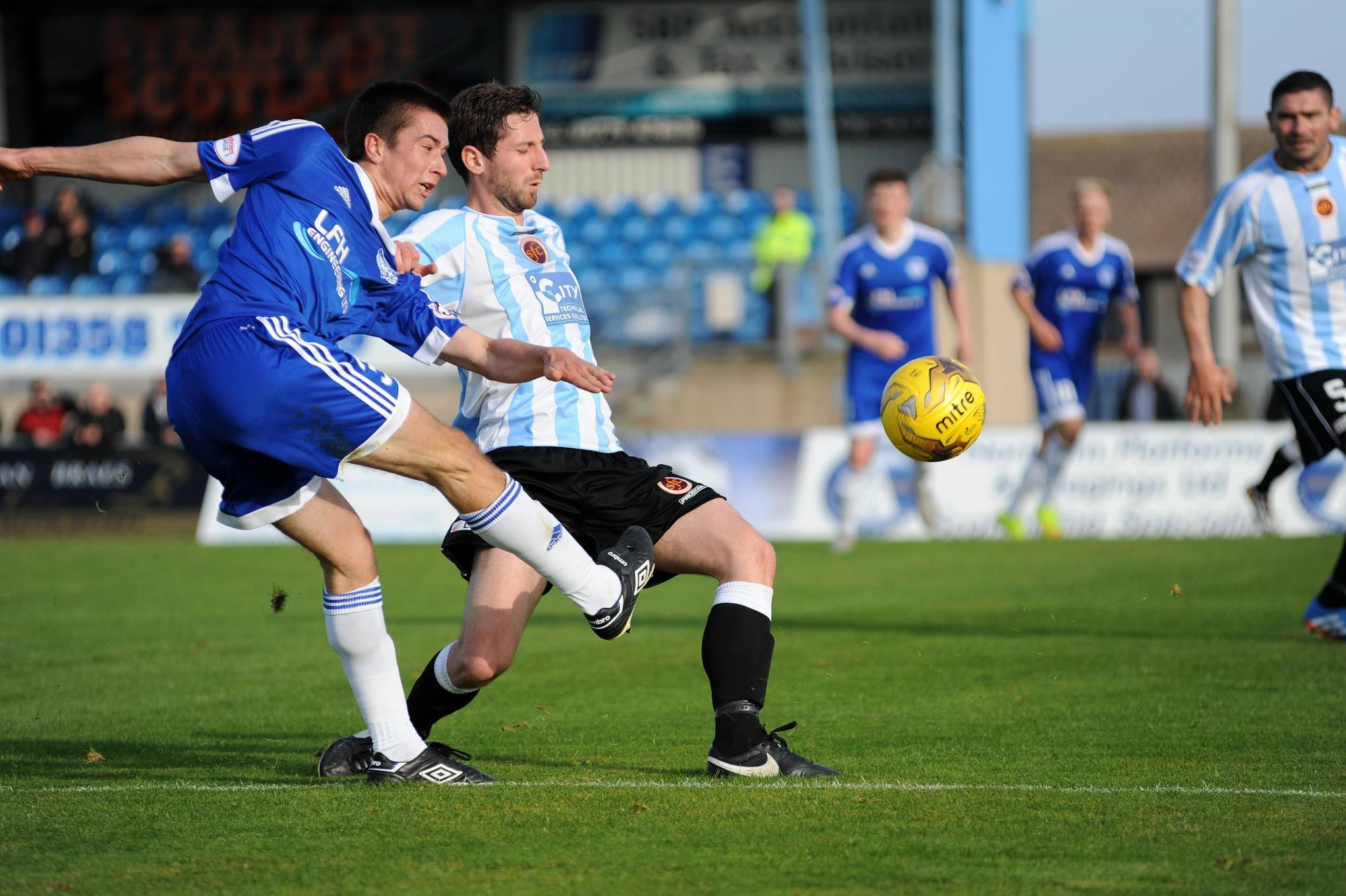 Peterhead's Cammy Kerr has a shot at goal. Picture by Duncan Brown
