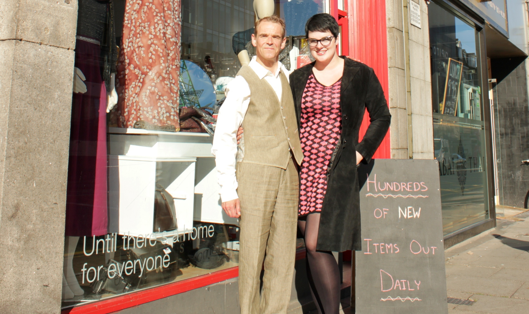 Volunteer Neale Bothwell and shop manager Kylie Cooney