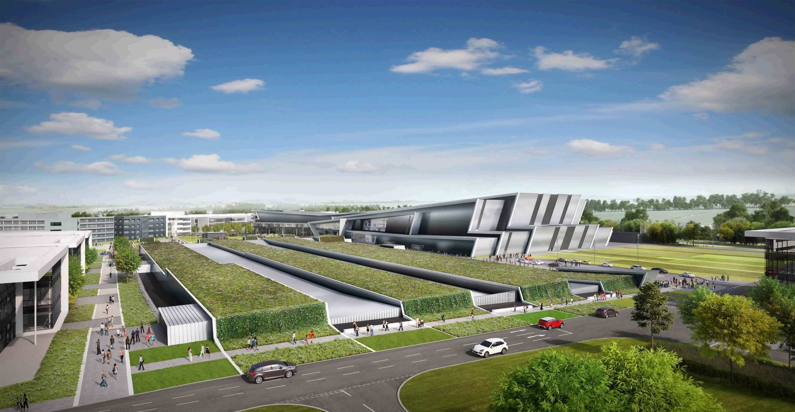 Artist impression of the planned new AECC.