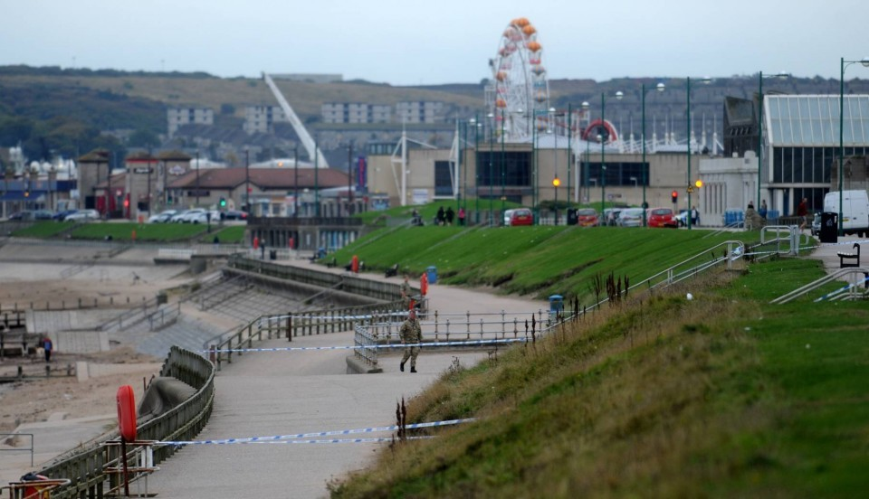 A large cordon was put in place before the controlled explosion.