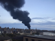 A large plume of smoke can be seen over Peterhead tonight. Picture by @iainjane1977