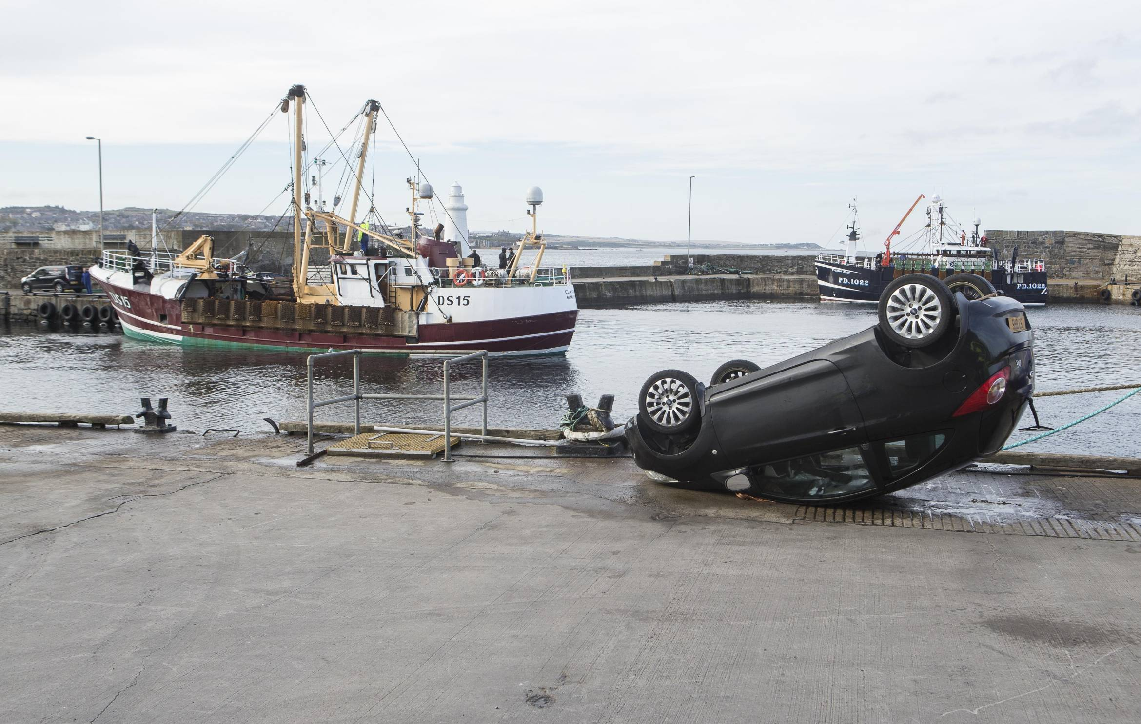 The car plunged into Macduff harbout