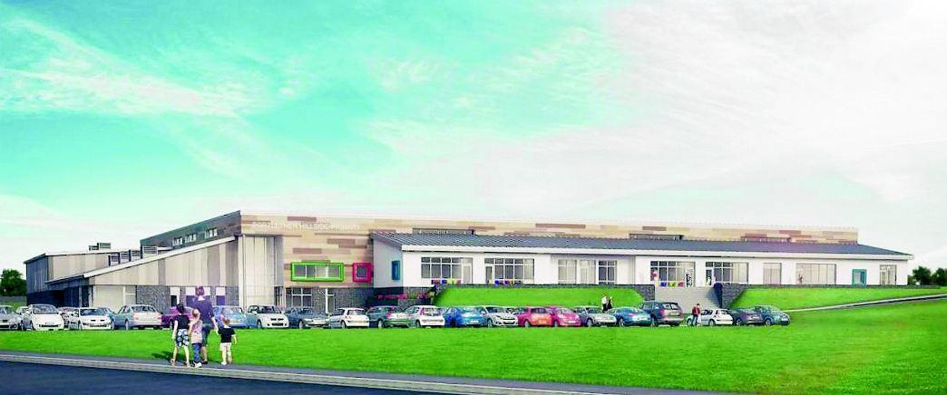 An artist impression of the new Hillside School.