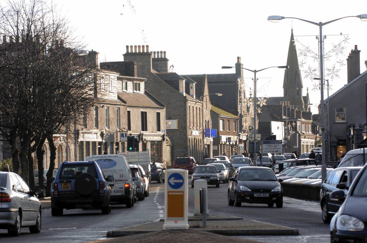 Inverurie Town Centre.