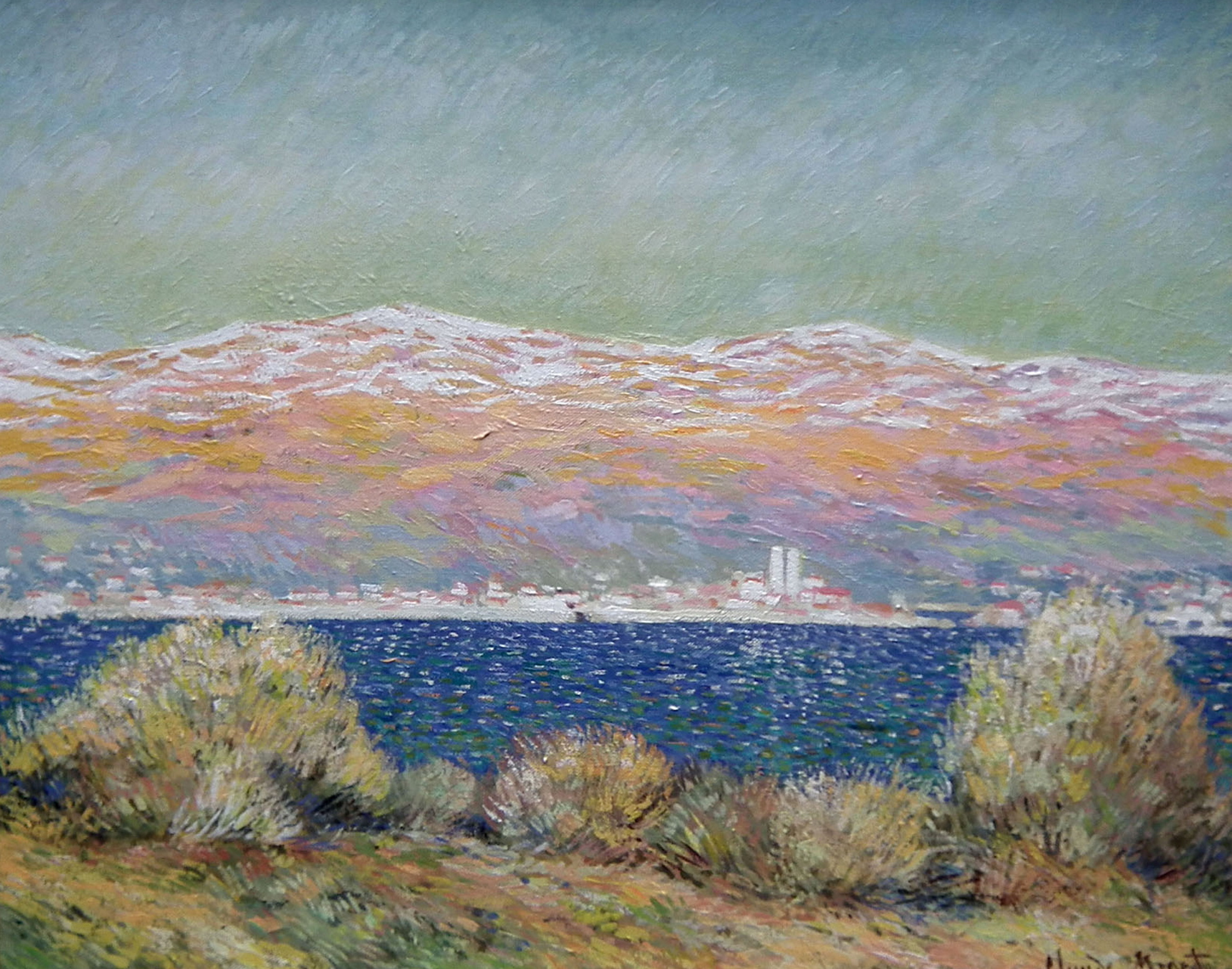 Artist John Myatt's View of Antibes (Morning Effect) in the style of Claude Monet.