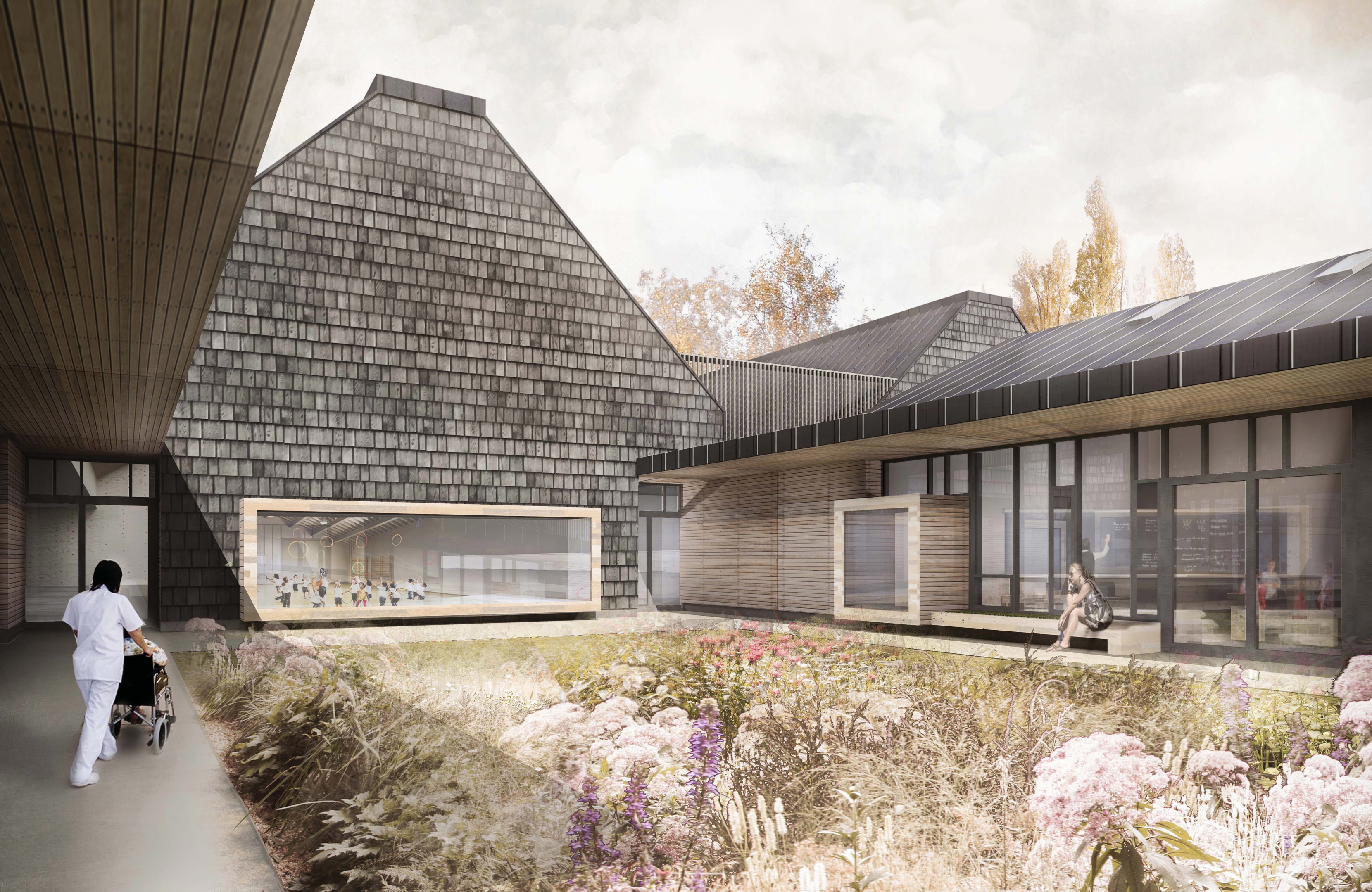 An artist's impression of the new Complex Needs School on Howes Road.