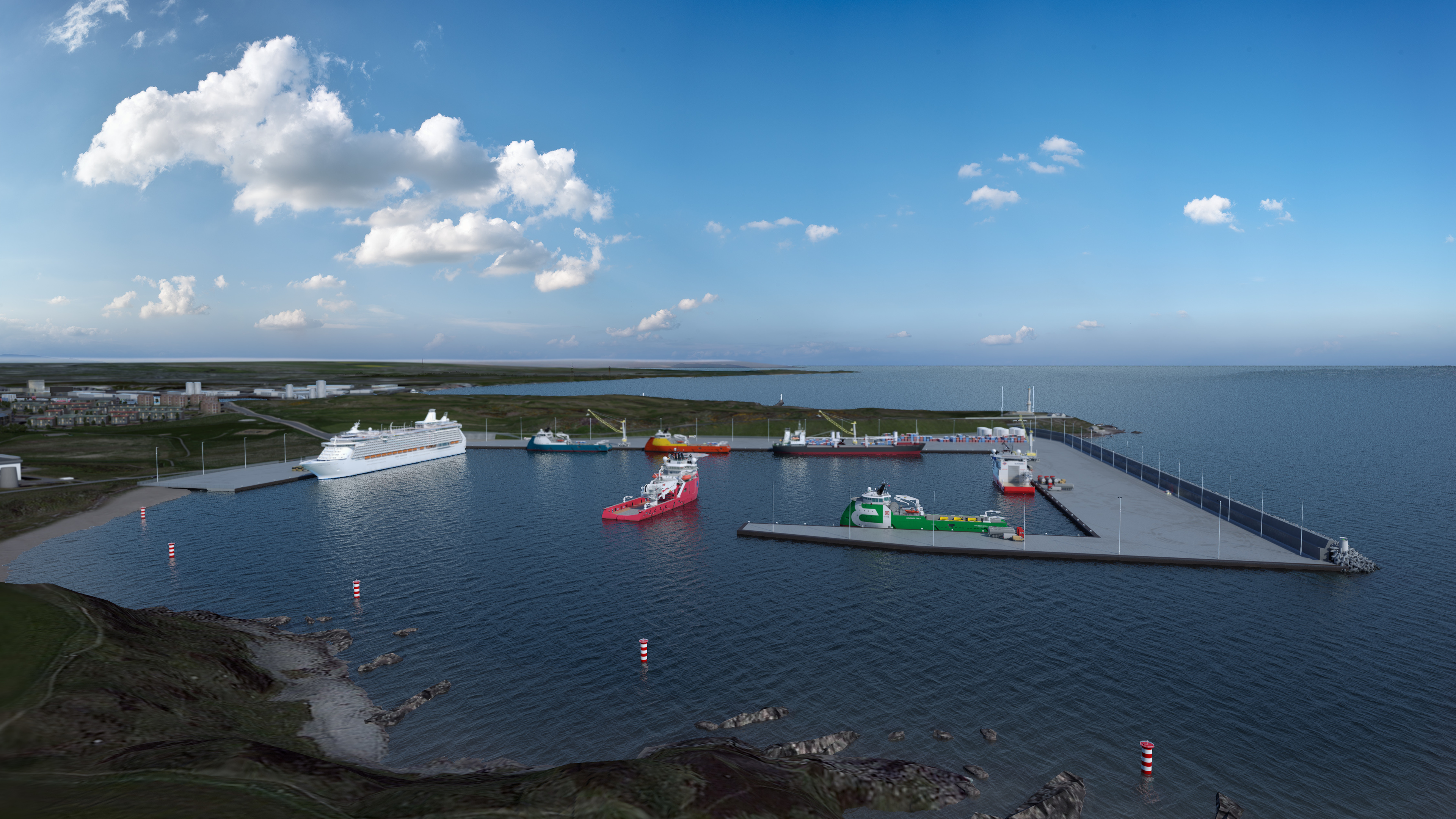 A new artist's impression the Nigg Bay expansion.