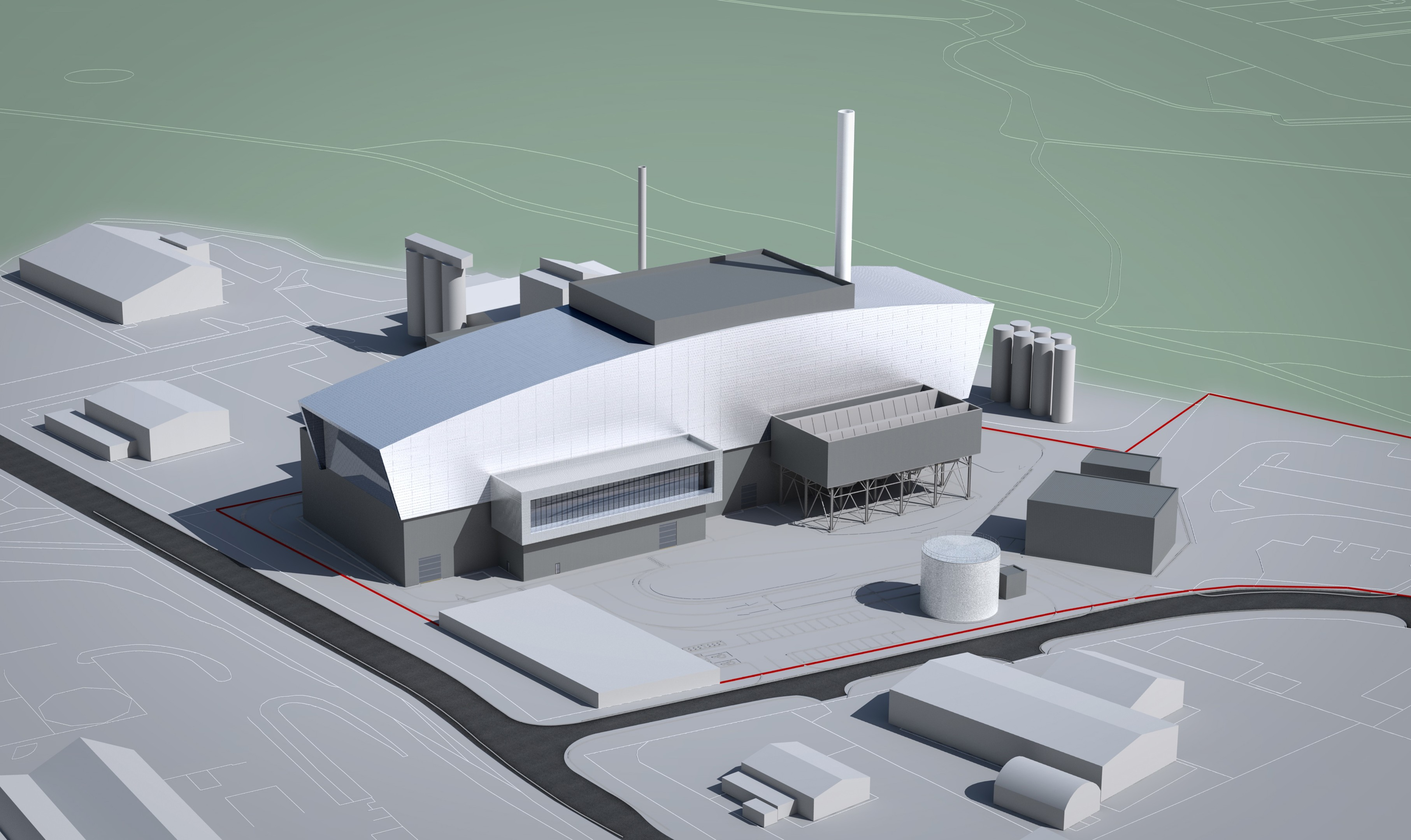 An image showing how the incinerator in East Tullos could look