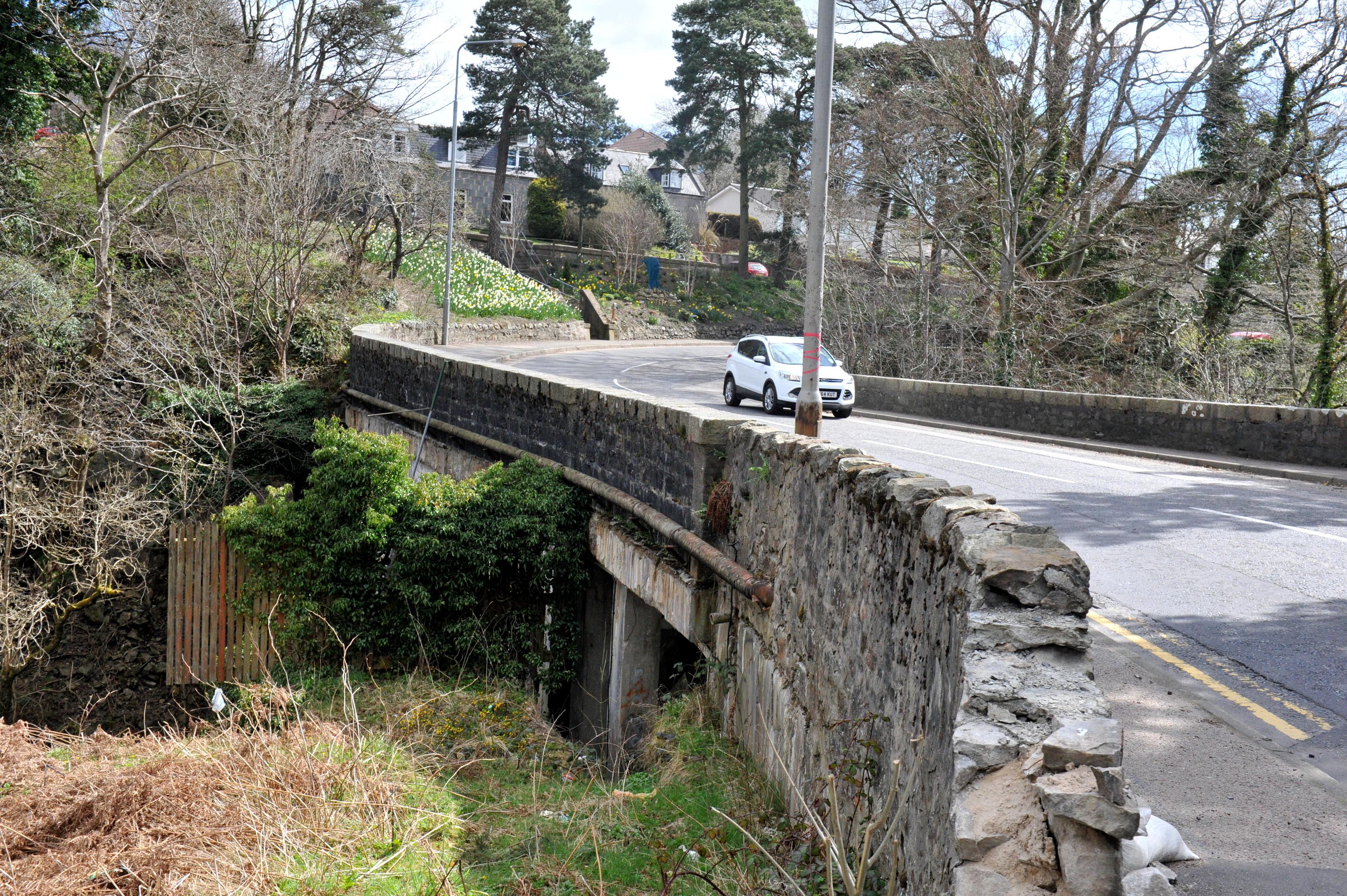 The Rob Roy Bridge at Peterculter is in need of repair.
