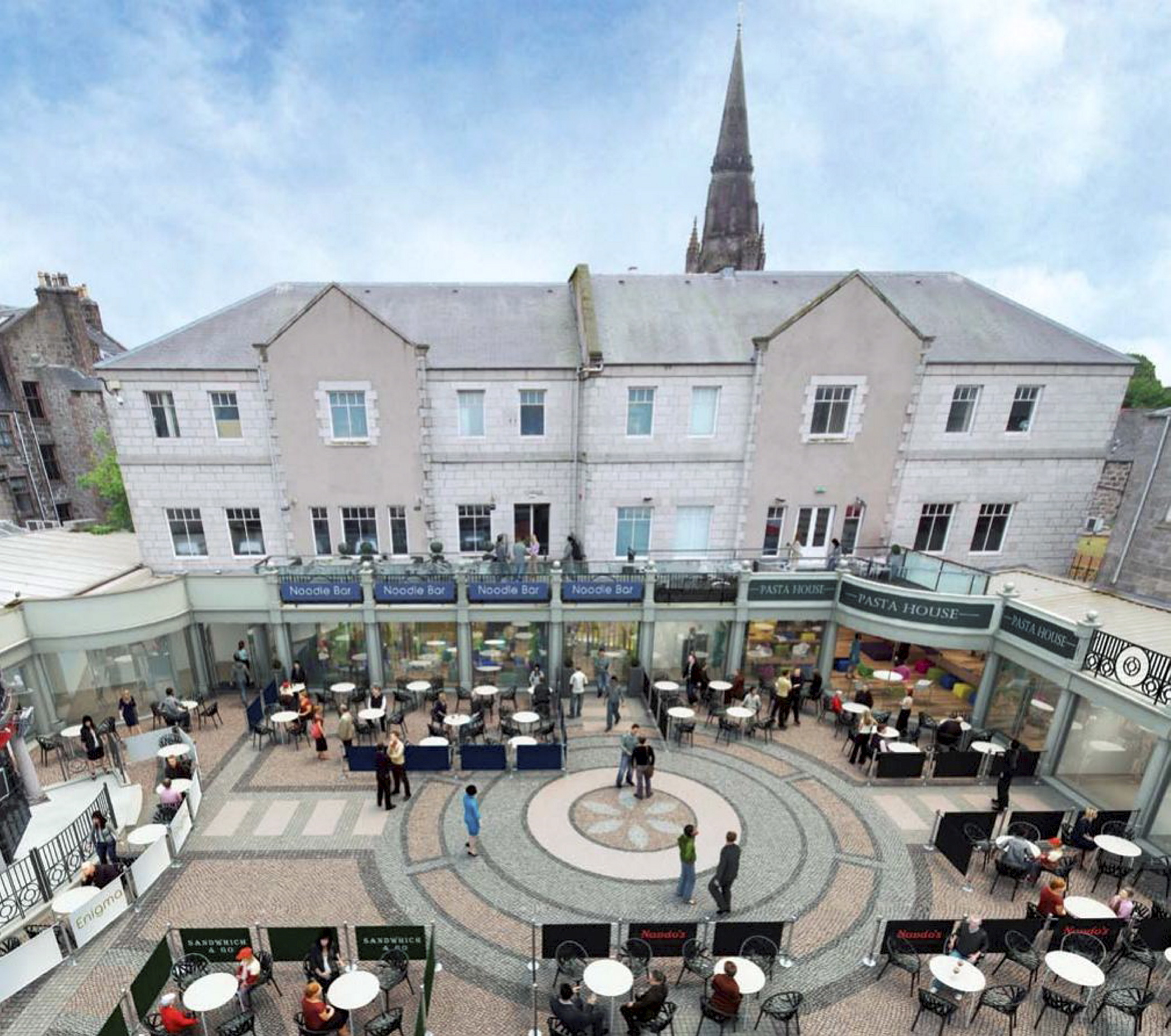An artist's impression of the planned changes to the Academy Shopping Centre.