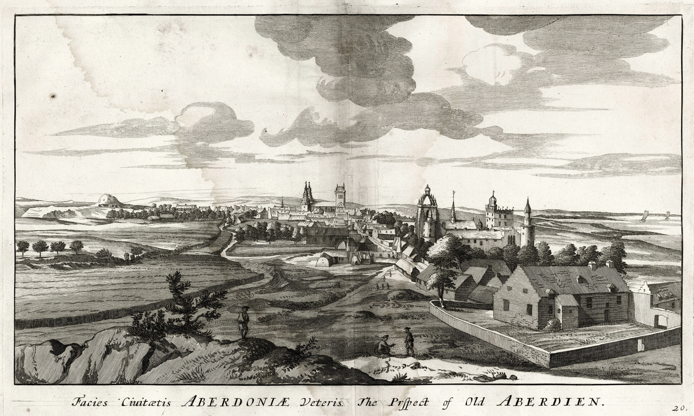 Past:  The University of Aberdeen, then known as King's College, in 1693.  pictures courtesy of university of aberdeen