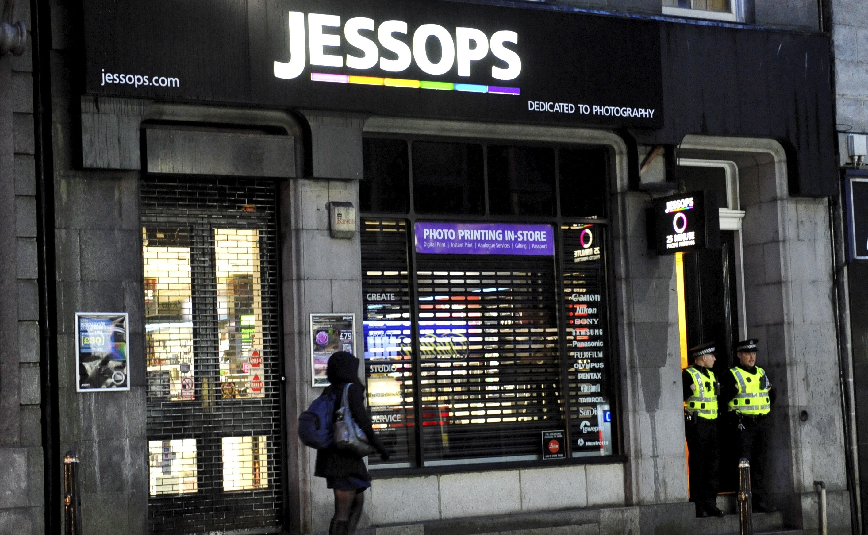 The Jessops store on Aberdeen's Market Street which was targeted.