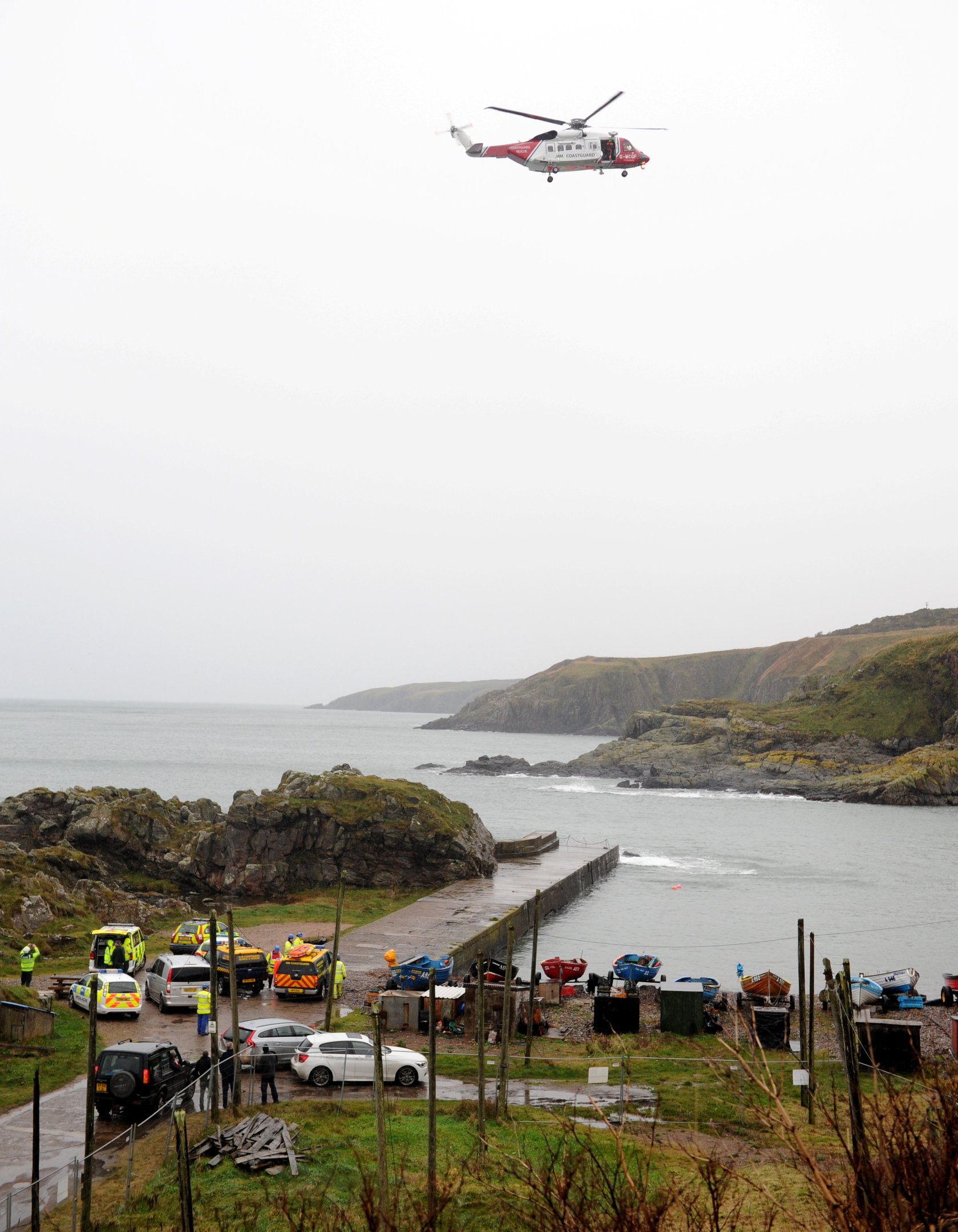 A climber was rescued after  falling from a cliff at Cove Bay.