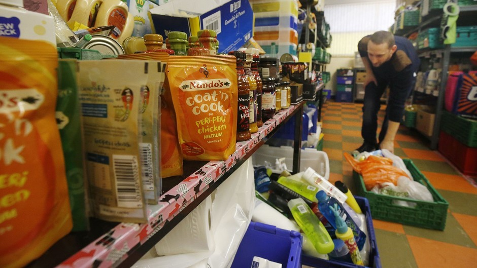 Foodbank usage in Aberdeen has soared by more than 2,000%