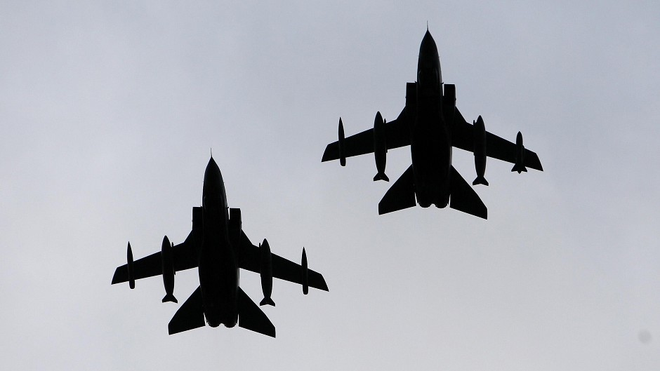 RAF Tornados based in Cyprus have started air strikes against IS in Syria