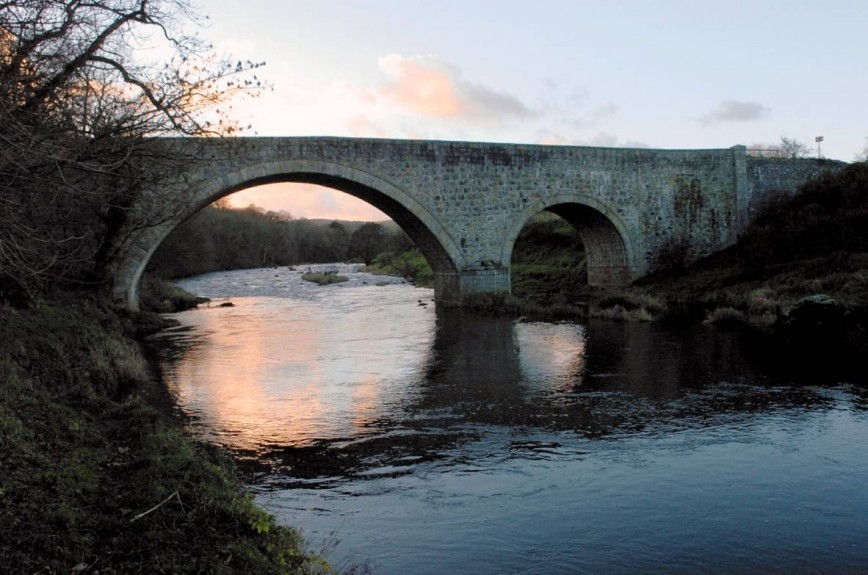 A Bridge over the River Deveron near Huntly.