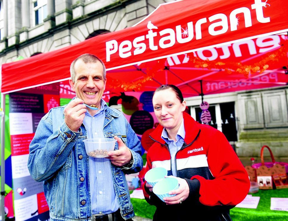 Pictured from left are Gordon MacDonald and Kelly Rettie , team leader from Rentokil.