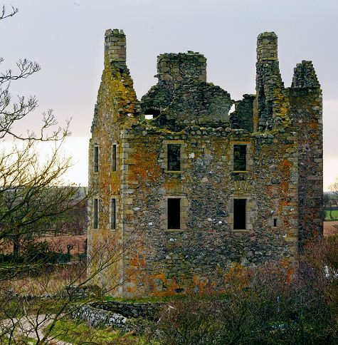 Court jester Jamie Fleming rescued the Laird of Udny's documents from a fire at Knockhall Castle.