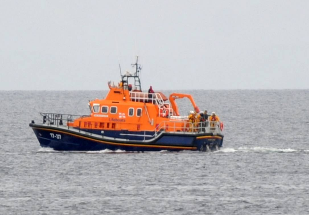 The Buckie lifeboat was sent to help the stricken trio