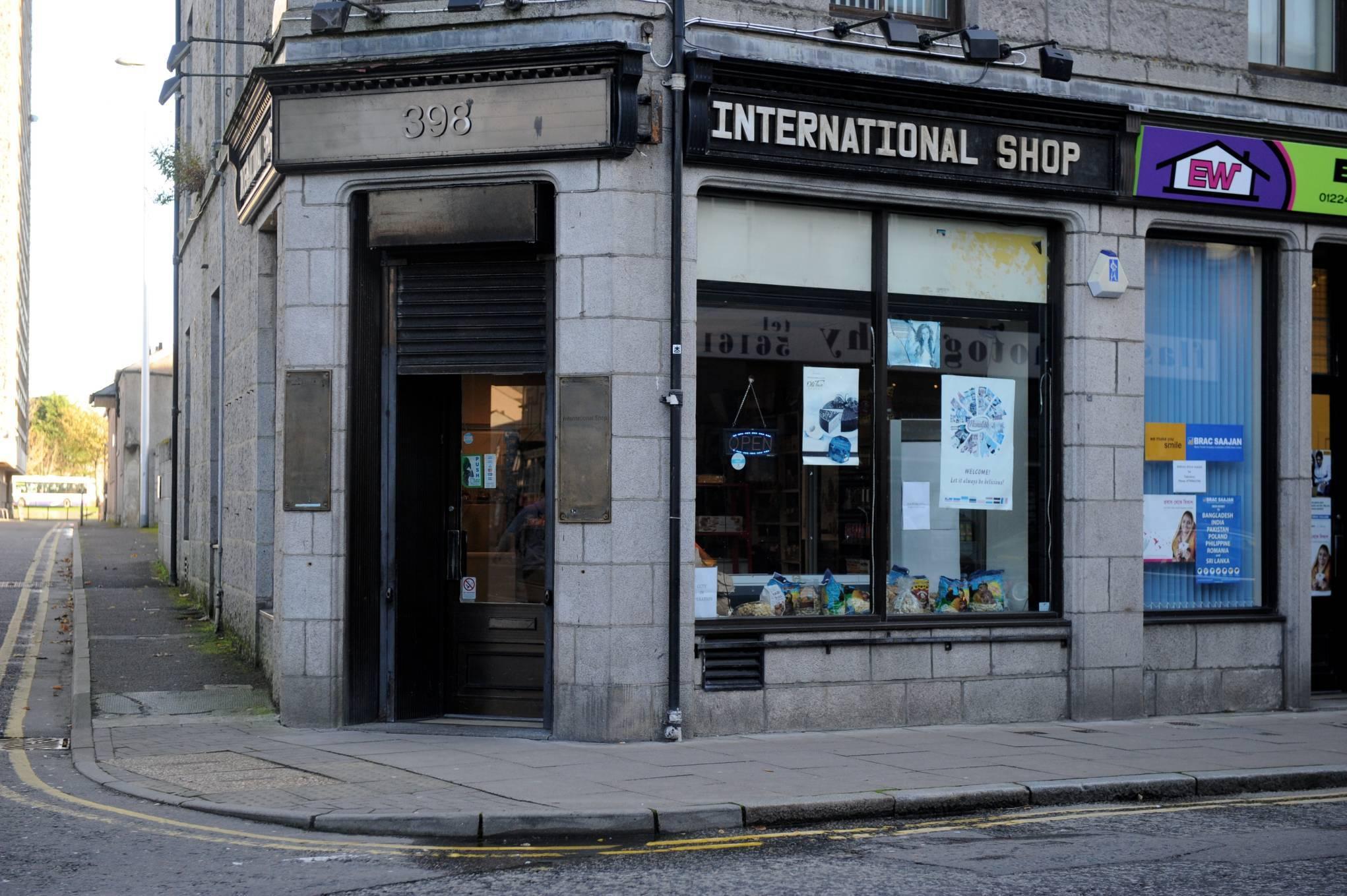 The International shop on George Street.