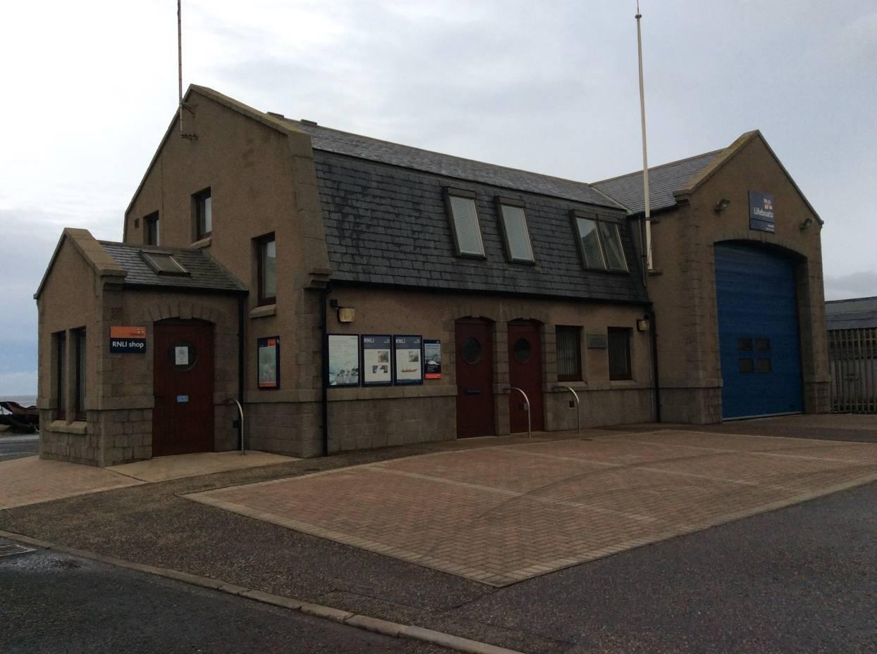 The RNLI station in Macduff was broken into