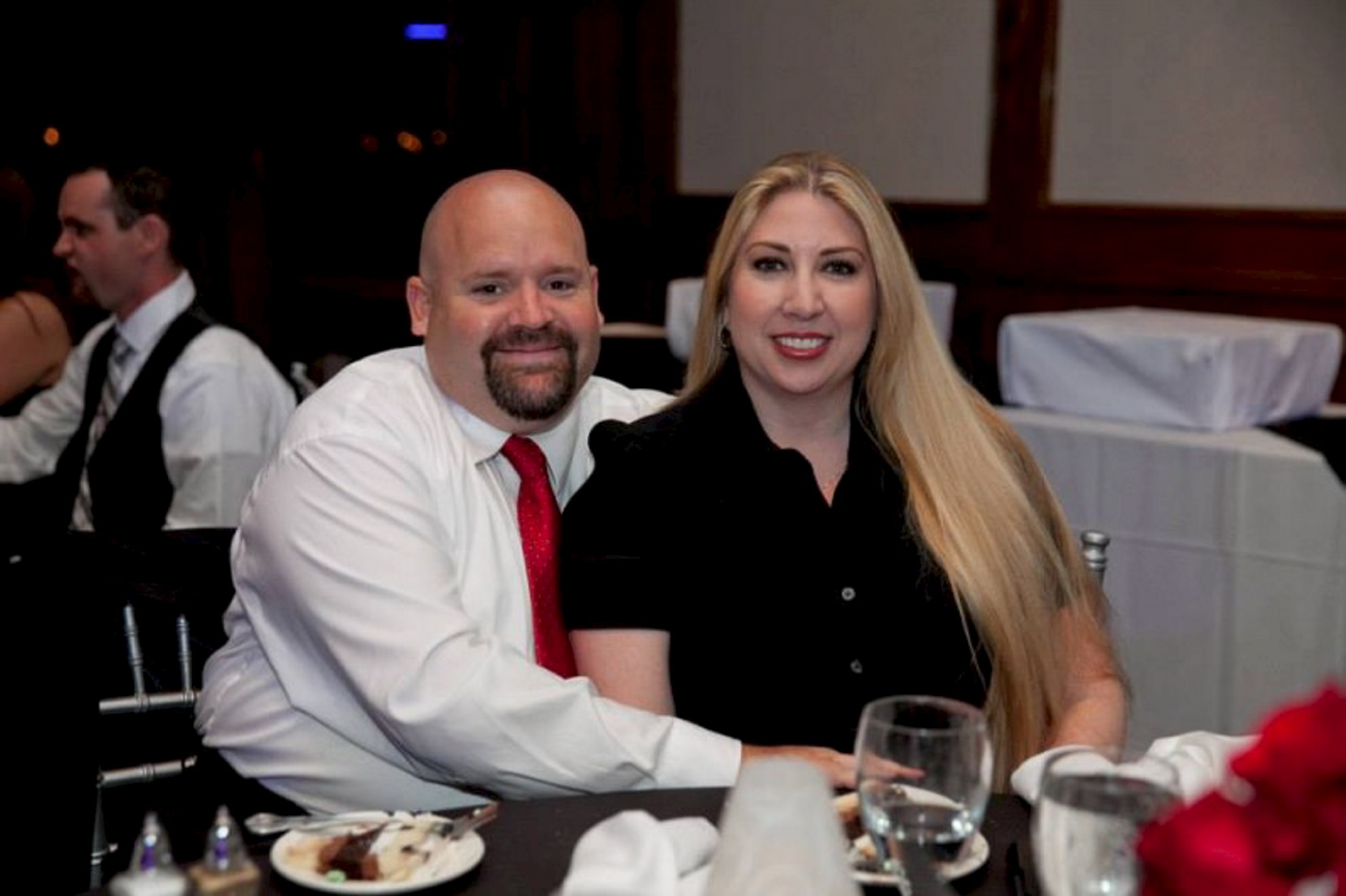 Robert Adams pictured with his wife Summer. Picture via gofundme.