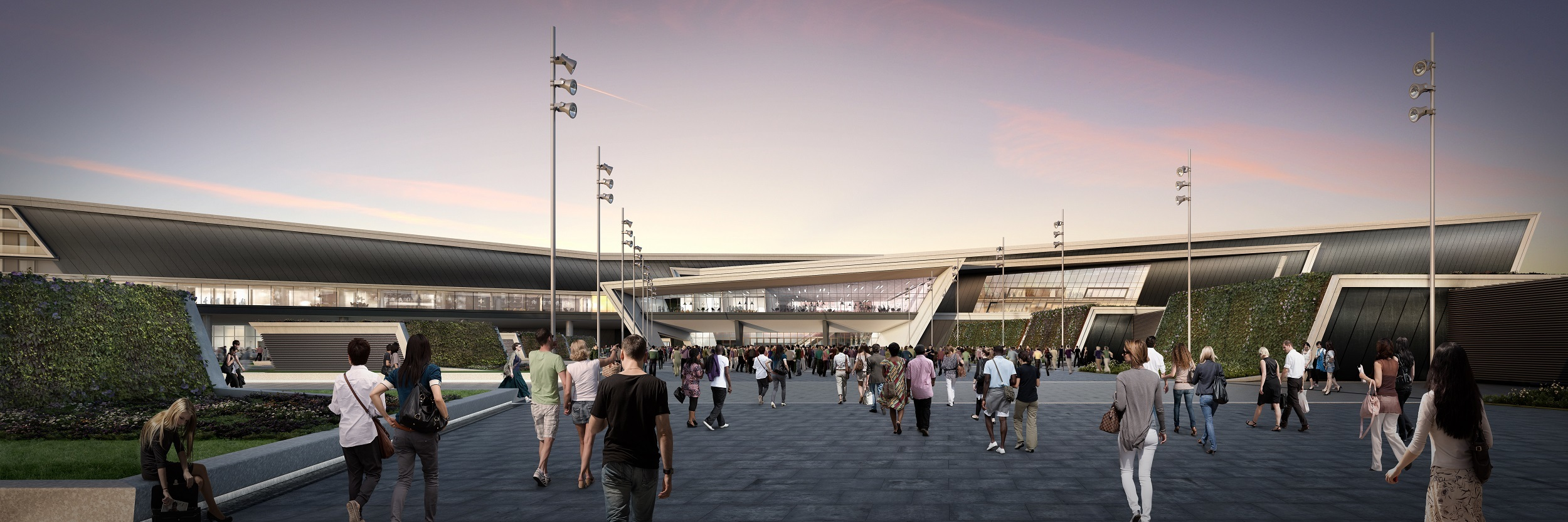 An artist's impression of the new AECC