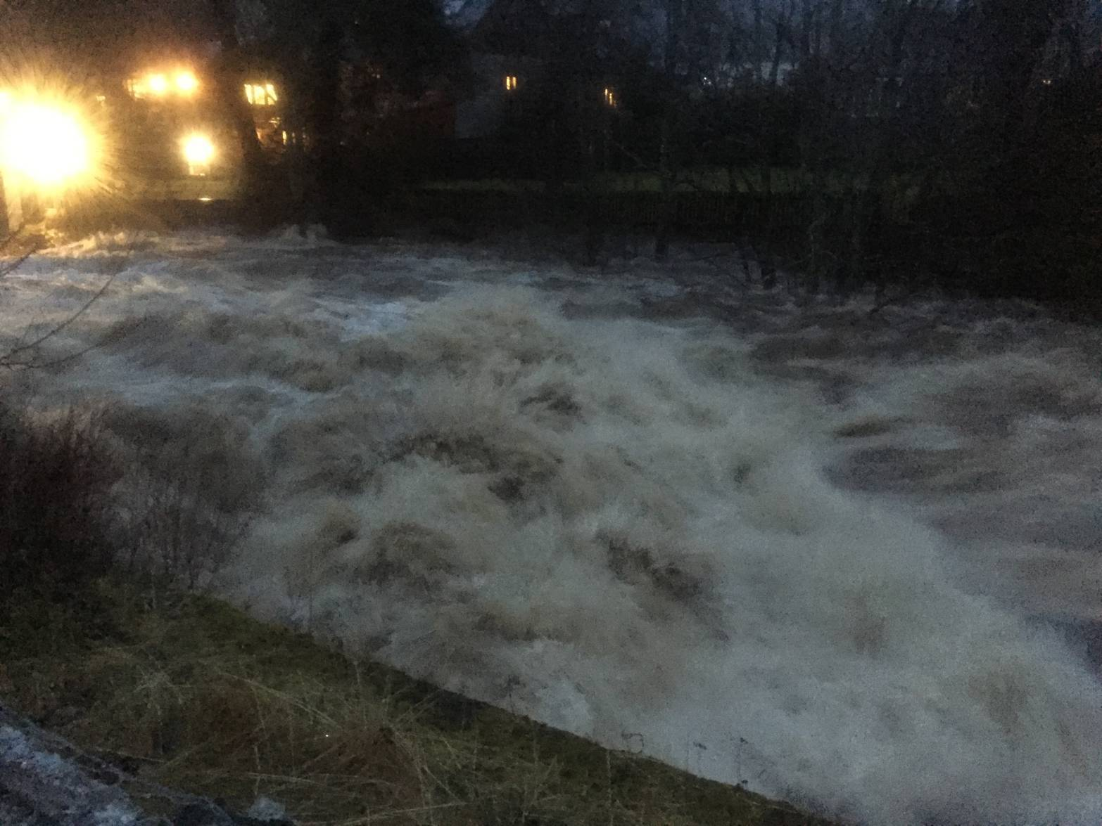 The River Clunie at Braemar after Storm Frank hit the North-east. Picture by reader Rob Bain