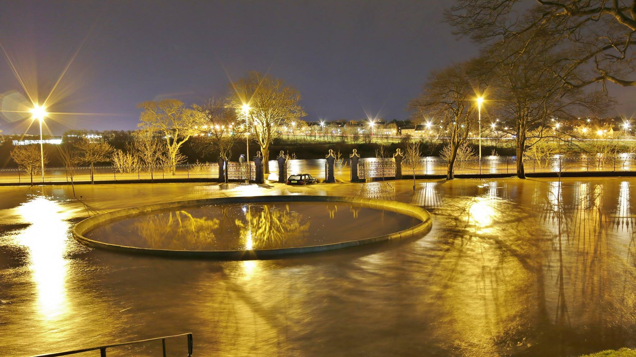 The River Dee burst its banks on Wednesday night. Picture by Gavin Park Photography.