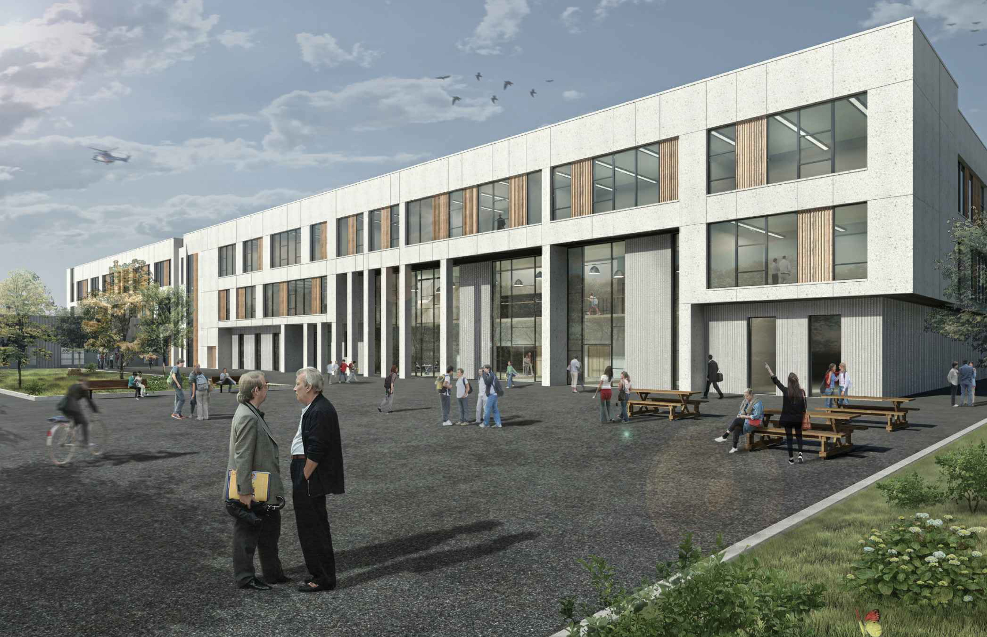An artist's impression of the proposed new secondary school. Picture courtesy of JM Architects