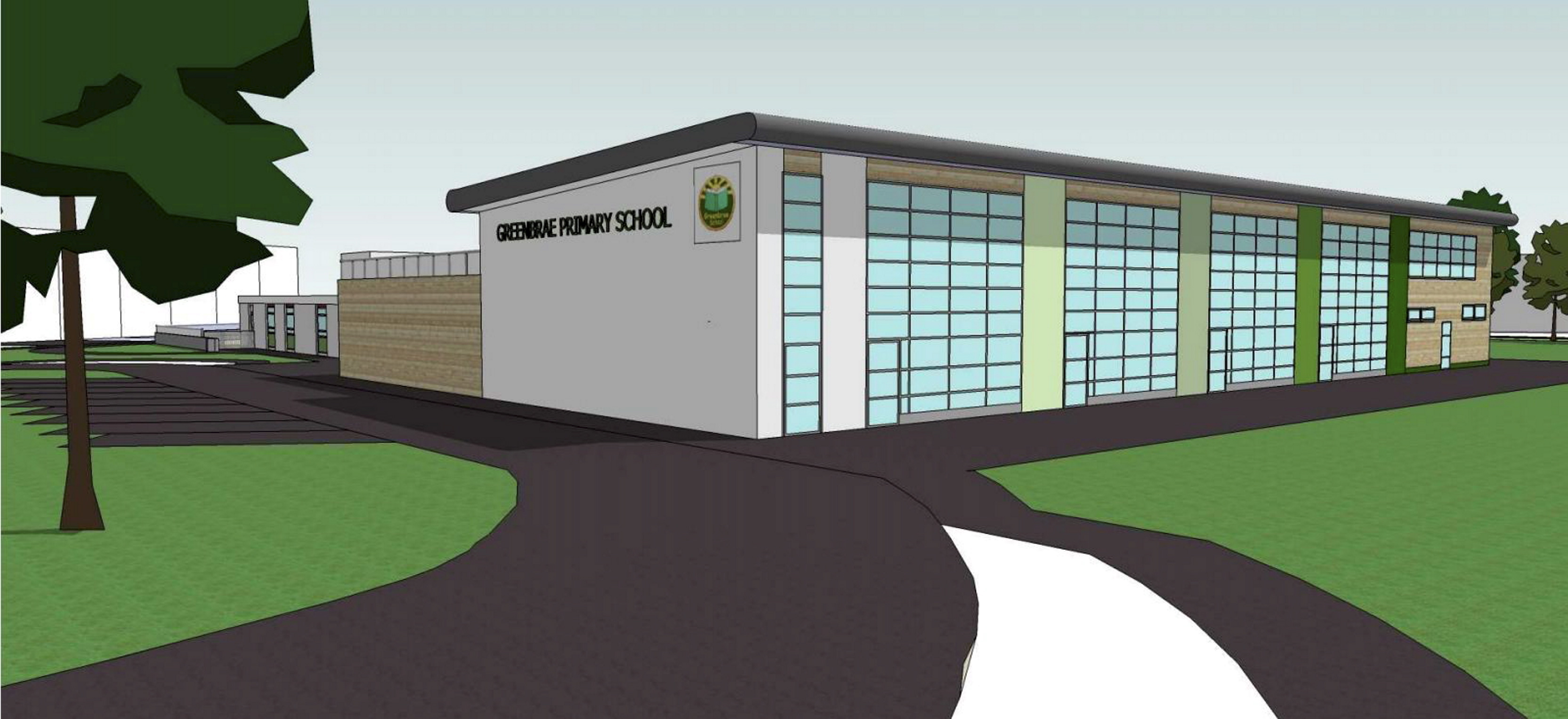 An artist's impression of the planned extension to Greenbrae Primary School