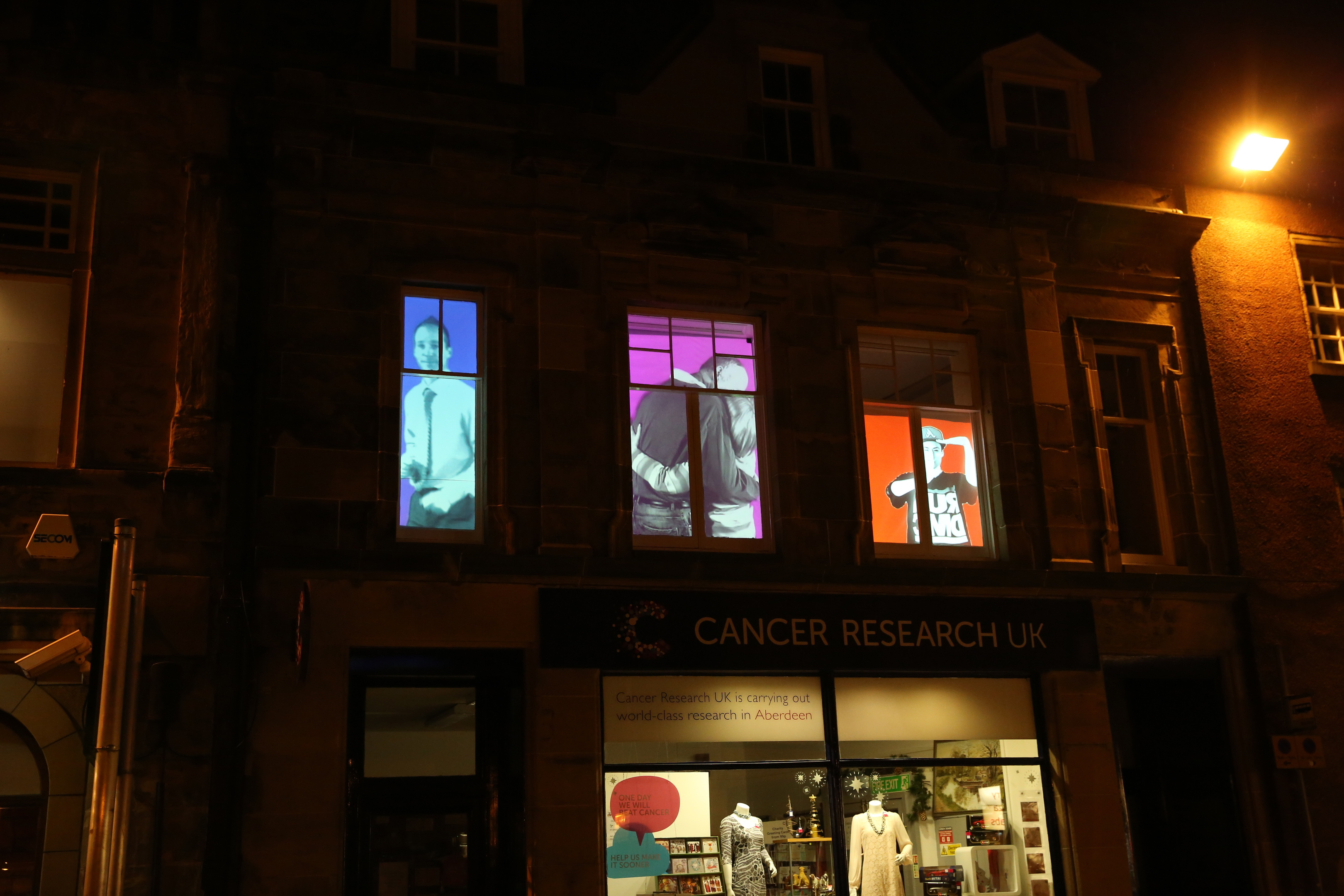Stills from the Granite Video which will be shone onto windows across Aberdeen.