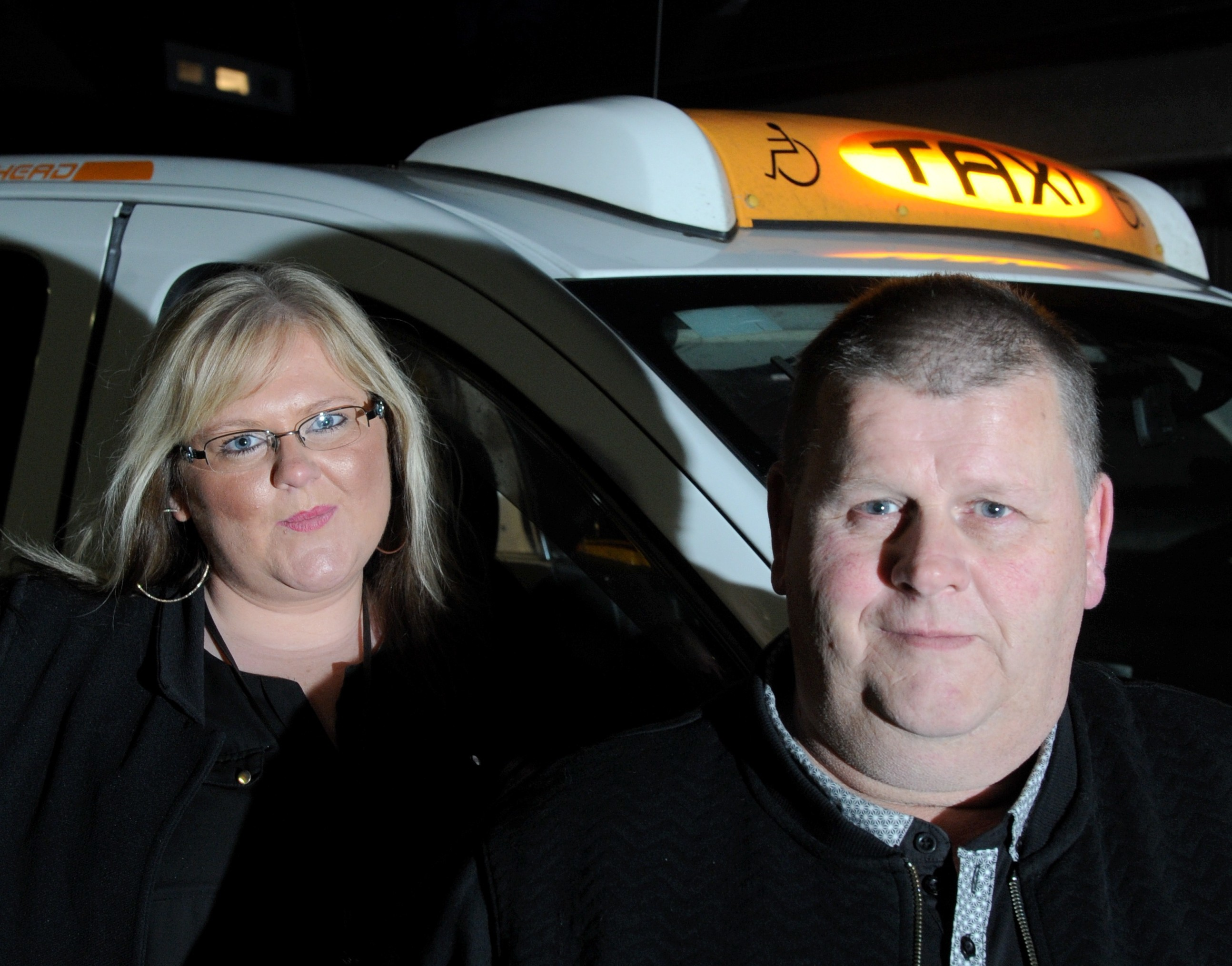 Mike Sheran and daughter Kerry drove the family from Aberdeen to Gatwick.