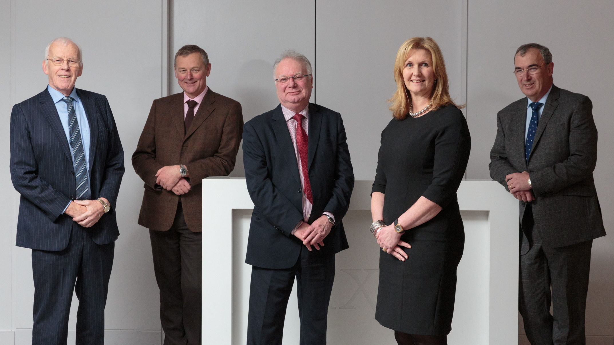 Opportunity North East board members Sir Ian Wood, Colin Crosby, Professor Stephen Logan, Jennifer Craw and Patrick Machray.