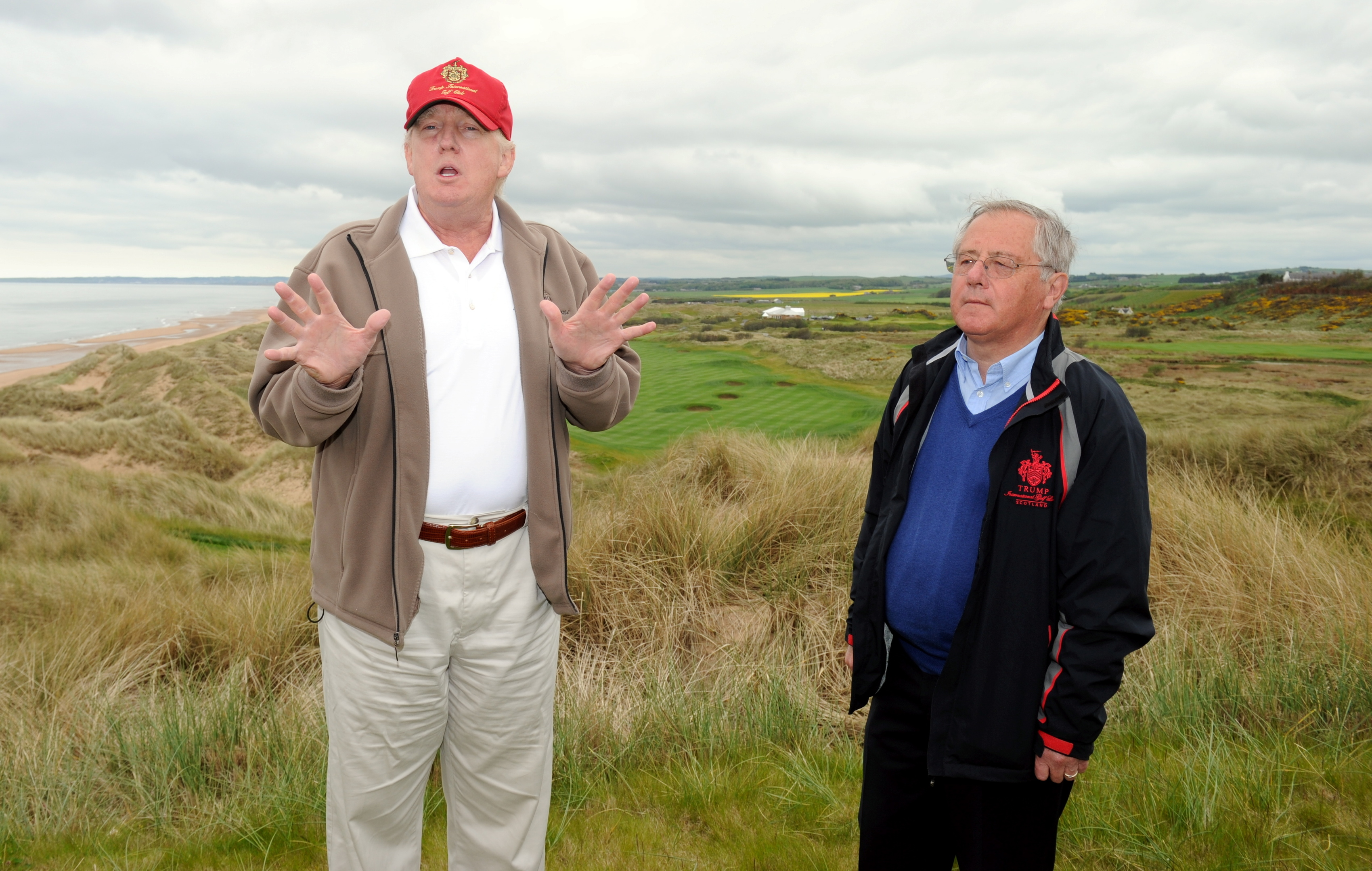 Tycoon Donald Trump with golf course architect, Dr Martin Hawtree