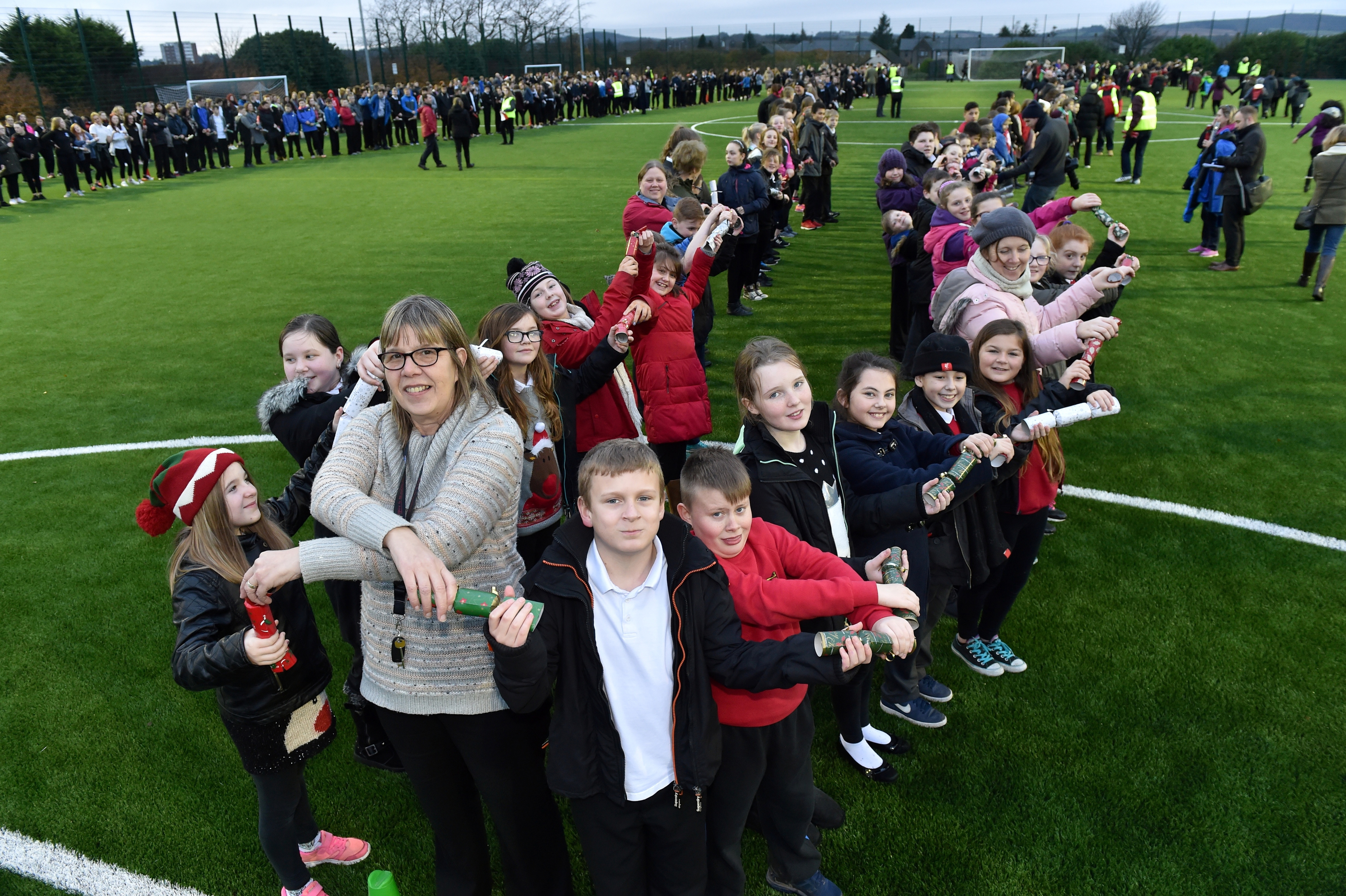 Hundreds of pupils and staff took part