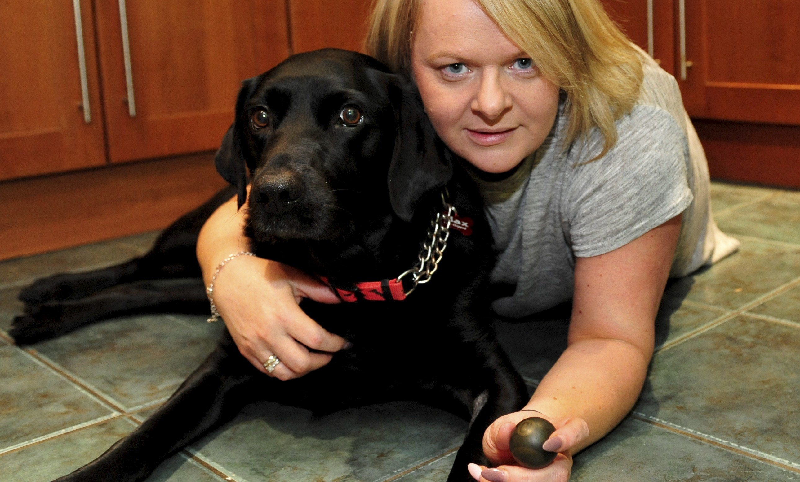 Lorna Gerrie's black lab Max recently swallowed a pool ball. Pictures: Heather Fowlie