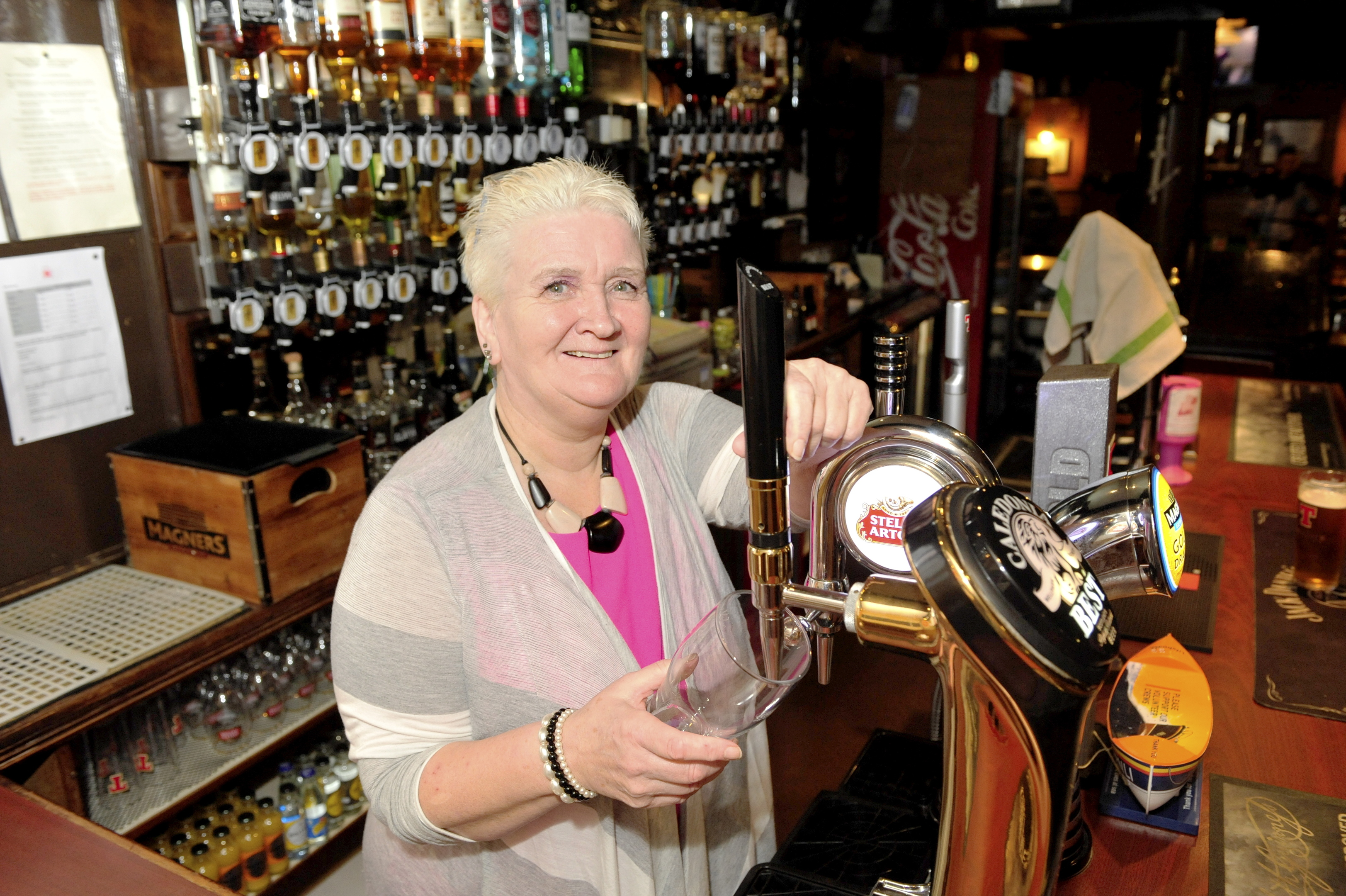 Val Morrison will be pulling her last pint today as The Crown and Anchor closes.