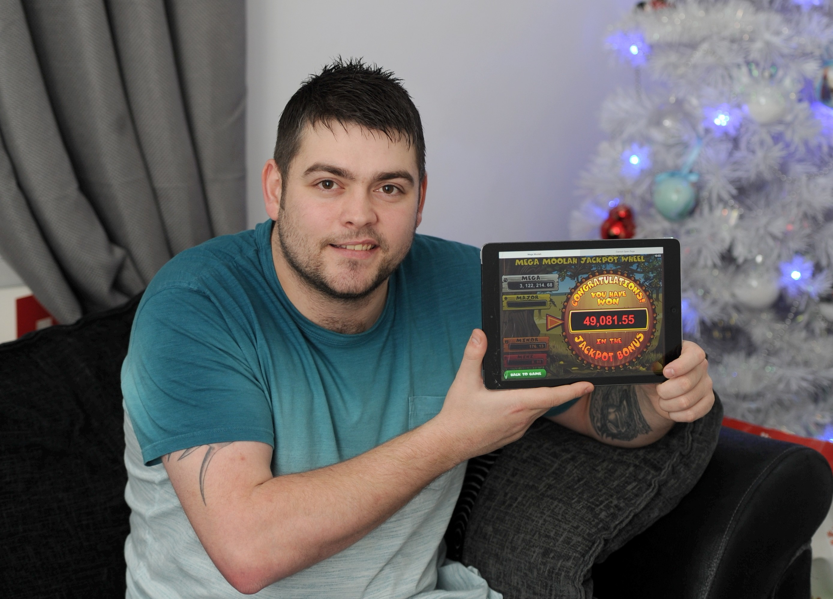 Scott Campbell who won the cash on a game called Mega Moolah.