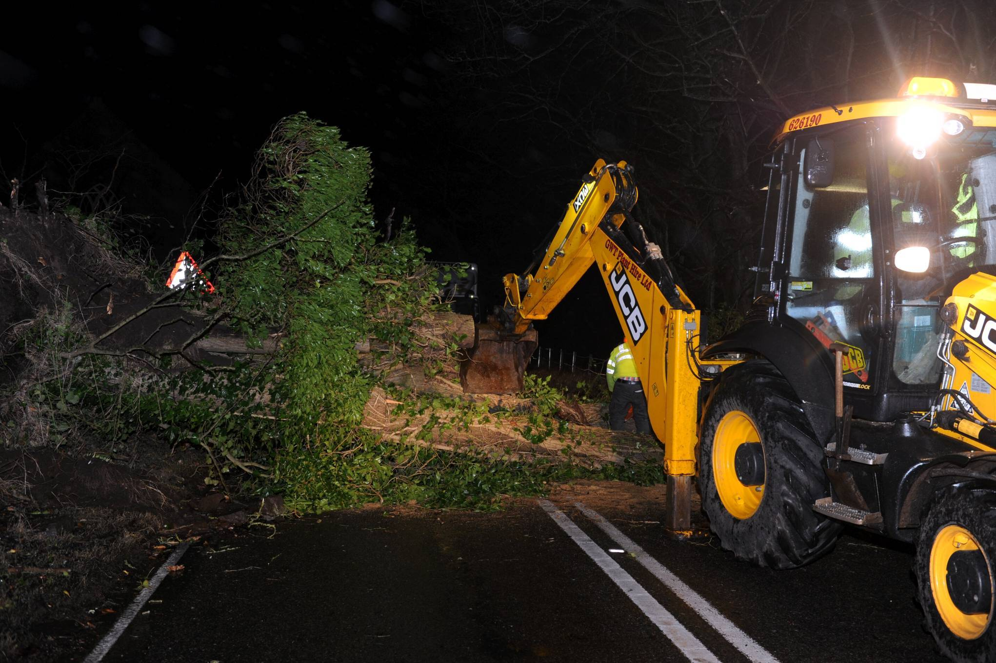 Police have received reports of a number of fallen trees including on South Deeside Road