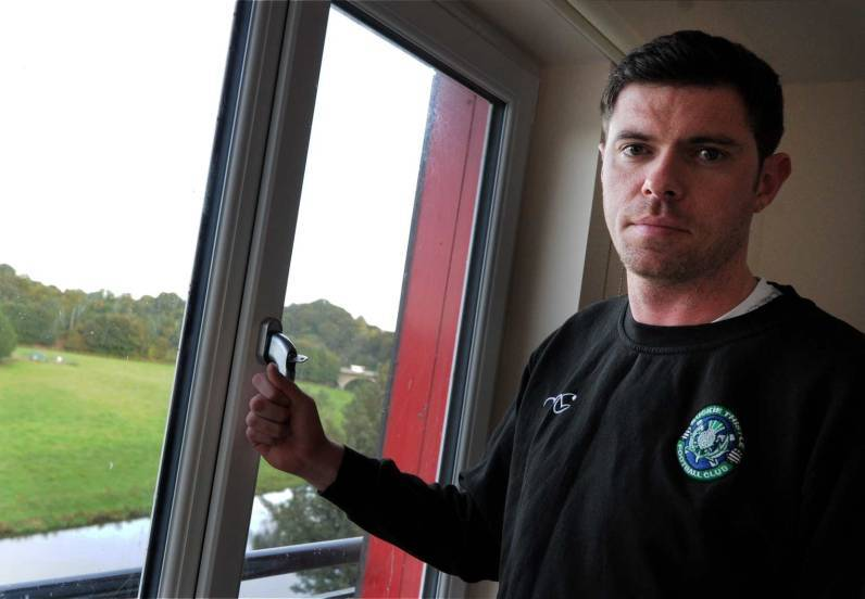 Buckie boss Graeme Stewart could be watching the club's next game from indoors